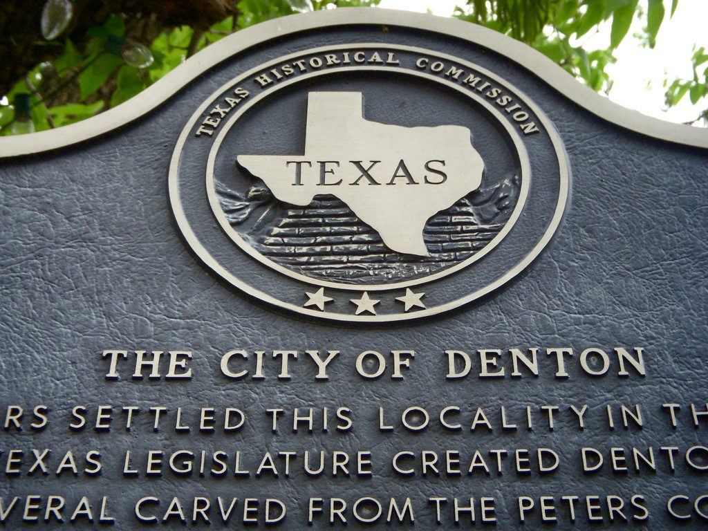 Denton sign